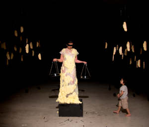 Source: Art Radar : Contemporary art trends and news from Asia and beyond. ;  Image: Nezaket Ekici, 'Balance', 2012, performance. Image courtesy the artist and Pi Artworks London/Turkey.