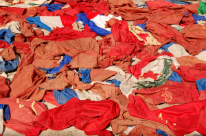 Source: Art News. Image: Ivan Grubanov, Dead Flags, 2011, vintage flags. Courtesy of the artist and Loock Galerie.