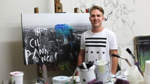 Source: The Sydney Morning Herald. Image: Queensland artist Jake Hart, the grandson of art legend Pro Hart and the son of David Hart, wants to make his own mark on the art world. Photo: Supplied.