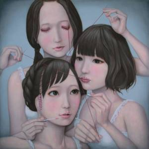 Source: The Japan Times:Culture. Image: Tomoyoshi Sakamoto's 'Three Wise Girls: See No Evil, Speak No Evil, Hear no Evil (She dress up)' (2014) | ART LAB TOKYO.